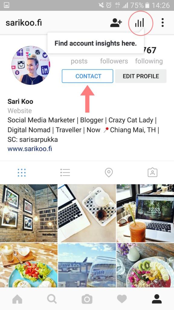 Instagram yritystili vaihda näillä ohjeilla