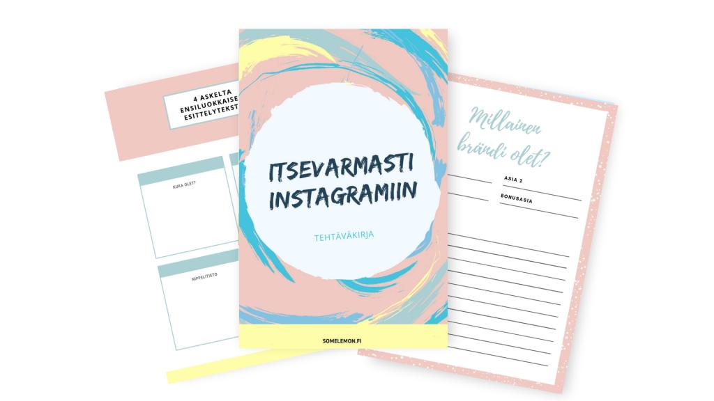 verkkokurssin tehtäväkirja instagram markkinoinnista